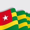 Togo wehende Flagge.