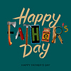 Szczęśliwy dzień ojca karty, vintage retro | Stock Vector Graphics