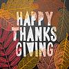 Happy Thanksgiving Day, Herbst Urlaub Hintergrund