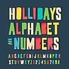 Feiertage bunten Alphabet und Zahlen