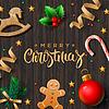 Frohe Weihnachten Grußkarte mit Dekor