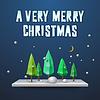 Sehr Frohe Weihnachten Grußkarte