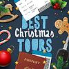 Векторный клипарт: Рождество и Новый Год, каникулы путешествия, туры