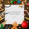Frohe Weihnachtswunschzettel, Zeichen für Weihnachtsmann