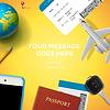 Vorbereitung für die Reise, Telefon, Ticket, Pass
