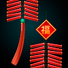 Chinese New Year Feuerwerkskörper Ornament