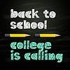 Starten Hochschule Universität Konzept zurück in die Schule,