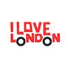 Ich liebe London, T-Shirt-Design, Logo-Grafik,