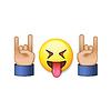 Rock-and-Roll-Zeichen, lächelnd emoji Symbol
