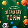 Sport-Team-Vorlage, Poster, Flyer