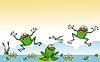 lustigen Comic-Frosch