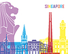 Skyline von Singapur pop