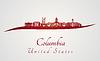 Columbia MO-Skyline in rot