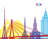 Riga Skyline pop