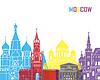Skyline von Moskau Pop-