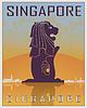Singapore Weinleseplakat