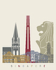 Singapur-Skyline Plakat