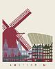 Векторный клипарт: Амстердам горизонта плакат