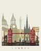 Векторный клипарт: Лондонский горизонт плакат