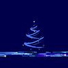 Weihnachten Neujahr blau