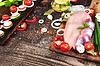 원시 신선한 닭 모래 주머니와 닭고기 | Stock Foto