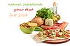 Shawarmas입니다 감자 튀김과 야채 | Stock Foto