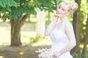 Piękna panna młoda w plenerze | Stock Foto