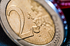 Two Euro Coin frontside   Stock Foto