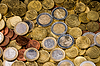 Two Euro Coin finance concept   Stock Foto