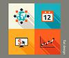 Business icon set. Software-und Web-Entwicklung,