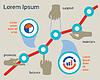 Business-Konzept. Erfolg und finanzielle Wachstum