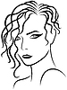Kobieta wspinaczka włosy z głowy | Stock Vector Graphics