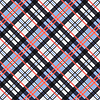 Kontrast nahtlose Tartan Diagonale Textur