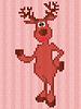 Векторный клипарт: Вязание шаблон с Рождества олень