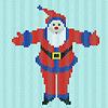 Векторный клипарт: Санта-Клаус с распростертыми объятиями