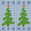 Stricken nahtloses Muster mit Weihnachtsbaum
