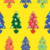 Christmas tree seamless pattern über gelb