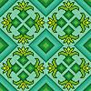Gestrickte nahtlose Muster in türkis, grün und