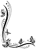 Kwiatu karty z pozdrowieniami z motyli | Stock Vector Graphics