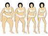 Векторный клипарт: Женщины на дороге, чтобы похудеть
