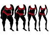 Векторный клипарт: Абстрактные женские тела на пути, чтобы похудеть