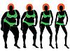 Векторный клипарт: Абстрактные женщины на пути, чтобы похудеть