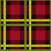 Векторный клипарт: Бесшовные шаблон в зеленых, желтых и красных тонах
