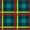 Векторный клипарт: Бесшовные шаблон в синий, желтый и красный цвета