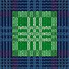 Векторный клипарт: Бесшовные, как трикотажной ткани в синий и зеленый
