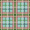 Vektor Cliparts: Nahtlos gestrickt Muster in grün, rot und weiß