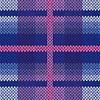 Vektor Cliparts: Nahtlos gestrickt Muster in verschiedenen Farben