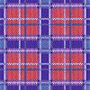 Vektor Cliparts: Nahtlos gestrickt Muster in violett, blau und