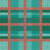 Vektor Cliparts: Nahtlos gestrickt Muster in Grün, Türkis und