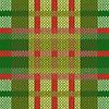 Vektor Cliparts: Nahtlos gestrickt Muster in grünen und roten Farbtönen
